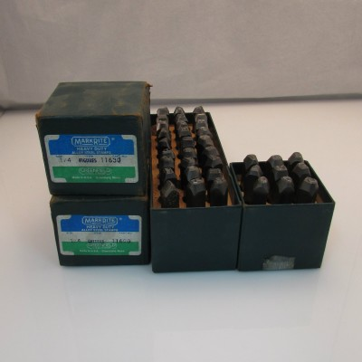 Poincons Lettres et Chiffres Greenfield USA 1/4''